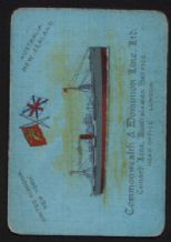 Vintage Collectible RARE old Playing Cards Shipping Line single Cunard  #110